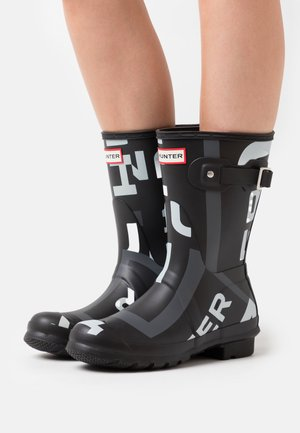 WOMENS SHORT EXPLODED LOGO PRINT - Wellies - onyx