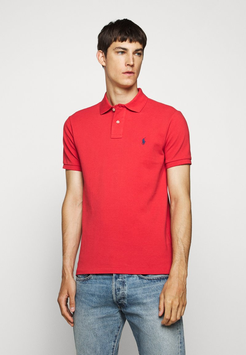 Polo Ralph Lauren - SLIM FIT MESH POLO SHIRT - Polo - evening post red