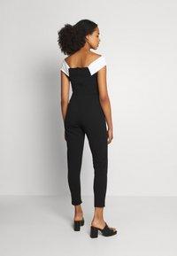 WAL G. - JESSIE JAYNE CONTRAST - Jumpsuit - black/white - 2