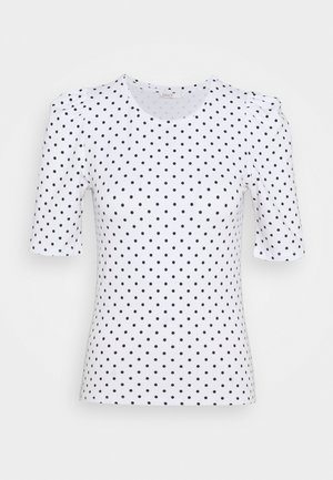 ONLMAYA LIVE LOVE PUFF - Blouse - white/black