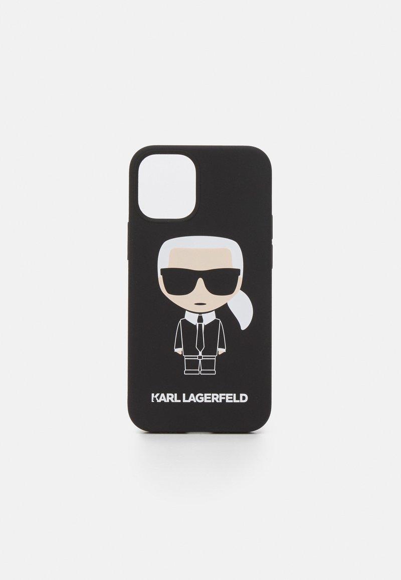 KARL LAGERFELD - IKONIK CASE IPHONE 12 MINI - Handytasche - black