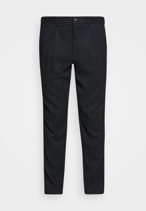 PLEATED PANTS - Trousers - navy