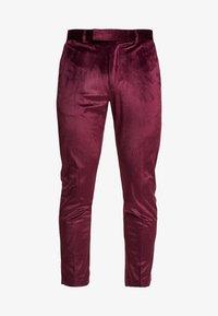 Burton Menswear London - VELVET PARTY - Kalhoty - burgundy - 4