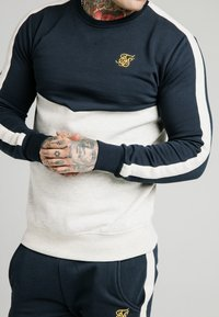 SIKSILK - CUT AND SEW CREW - Sweatshirt - navy/snow marl - 4