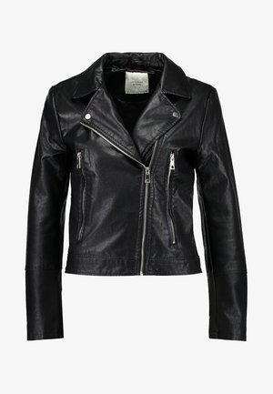 YONG JACQUELINE - Faux leather jacket - black