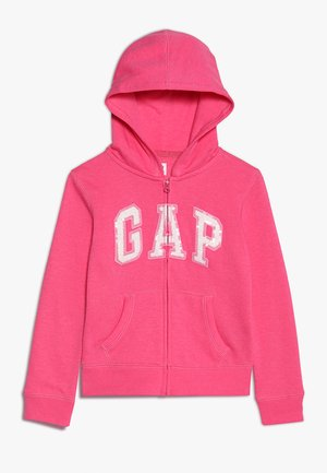 GIRLS ACTIVE LOGO - Zip-up hoodie - pink jubilee