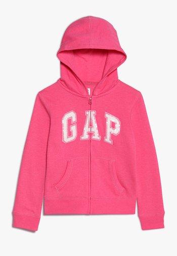 LOGO - Zip-up sweatshirt - pink jubilee