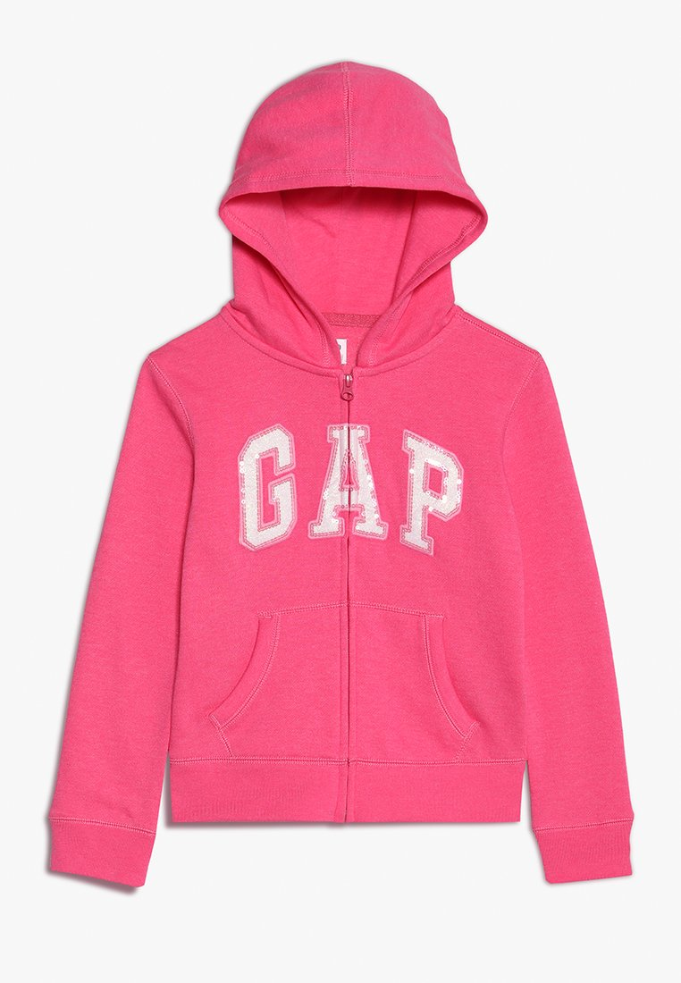 GAP - GIRLS ACTIVE LOGO - Hoodie met rits - pink jubilee