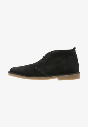 Casual lace-ups - black/honey