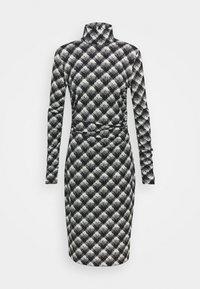 Proenza Schouler White Label - SHEER DRESS - Jersey dress - ecru/black - 6