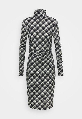 SHEER DRESS - Vestido ligero - ecru/black
