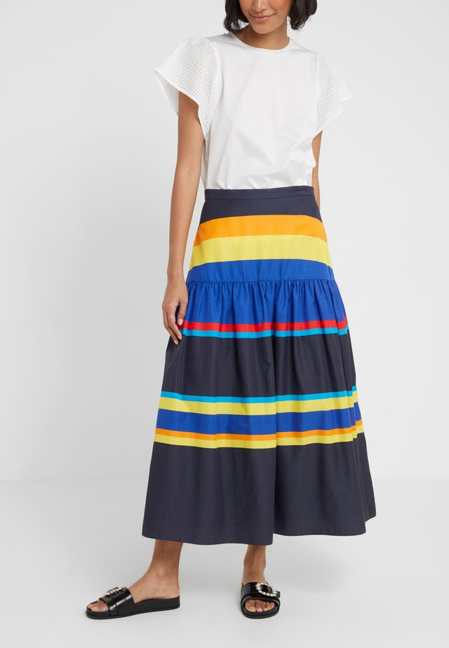 SKIRT - Maxiskjørt - navy/multi