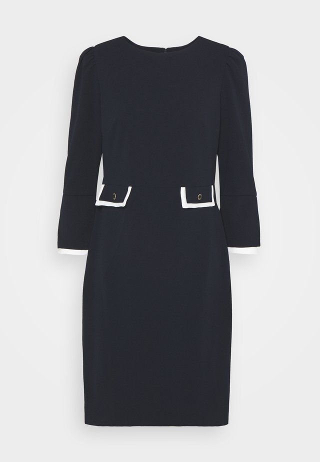 Shift dress - midnight/ivory