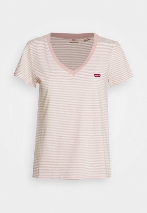 PERFECT V NECK - T-shirt z nadrukiem - annalise/sepia rose