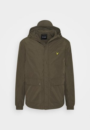 HOODED POCKET JACKET - Regnjacka - trek green