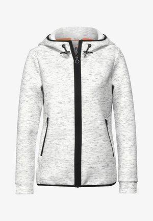 ATHLEISURE  - Zip-up sweatshirt - off white melange