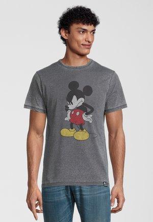 DISNEY MICKEY MOUSE MADFACE - T-shirt print - dunkelgrau