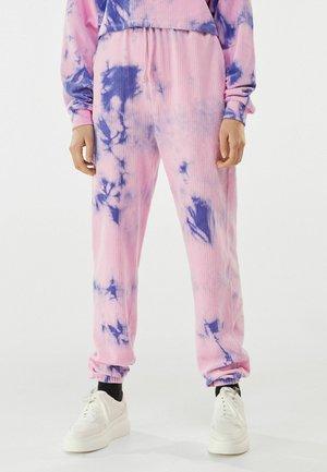 MIT TIE-DYE-PRINT  - Teplákové kalhoty - mauve