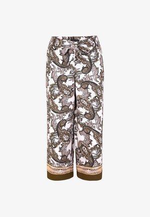Trousers - beige aop