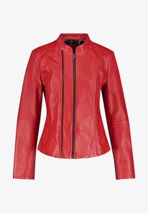 NAPPALEDER - Leather jacket - barbados cherry