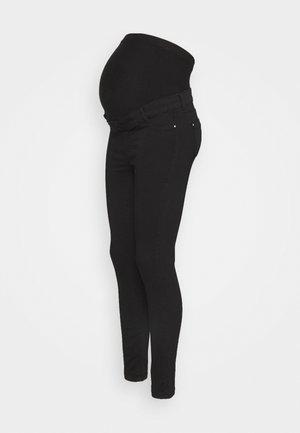ORGANIC OVERBUMP FRANKIE - Skinny džíny - black