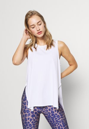 LONGLINE SPLIT HEM TANK - Top - white