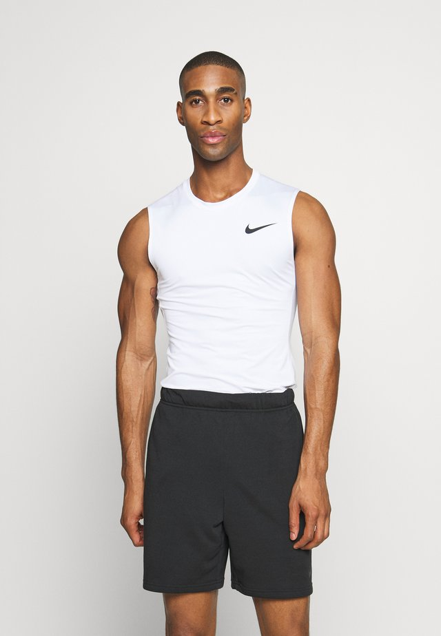 M NP TOP SL TIGHT - T-shirt sportiva - white