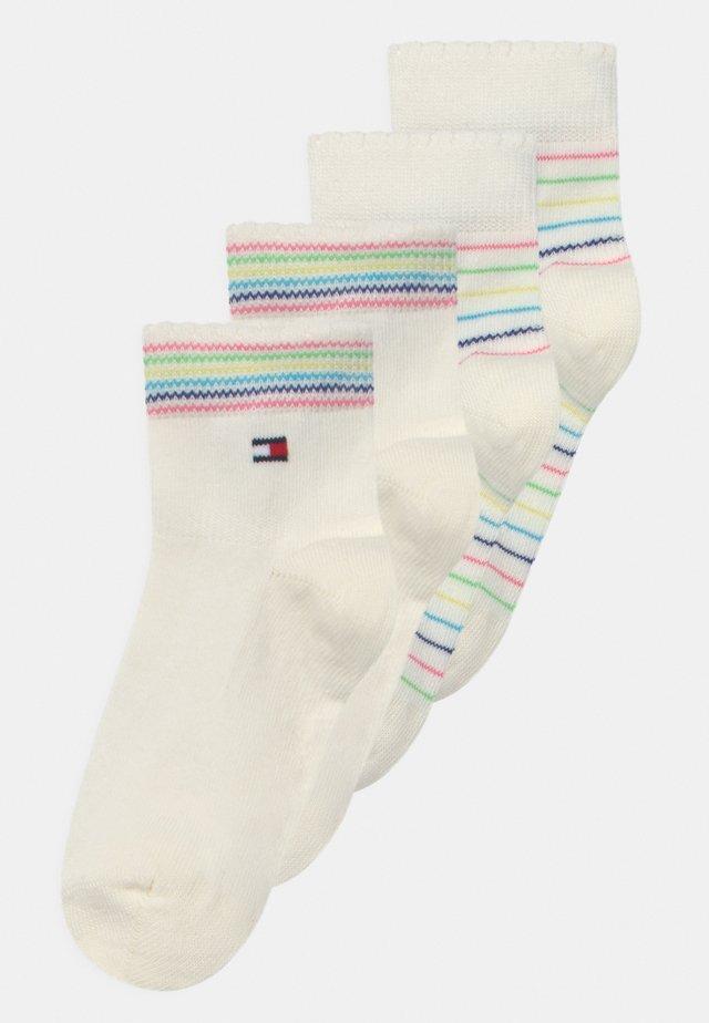 4 PACK UNISEX - Socks - white