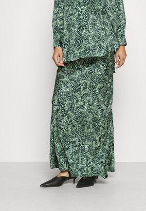 SIDE SPLIT SLIP MIDI SKIRT - Maxi sukně - green mint