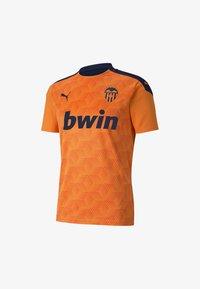Puma - VALENCIA CF - T-shirt med print - vibrant orange-peacoat - 0