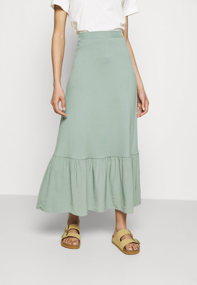 TIERRING SKIRT - Gonna a campana - turquoise