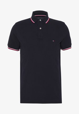 TIPPED SLIM FIT - Koszulka polo - blue