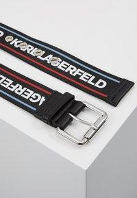 KARL LAGERFELD - WEBBING HIP BELT - Pásek - black - 2
