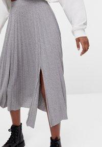 Bershka - A-line skirt - light grey - 0