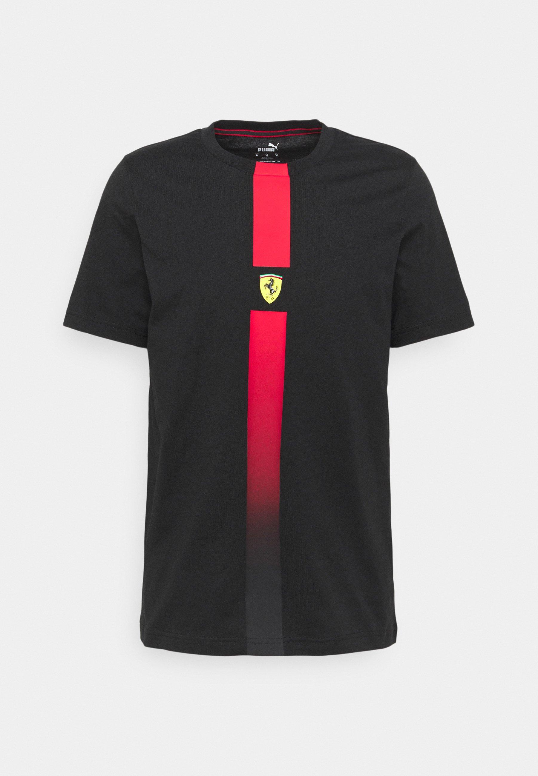 Puma Ferrari Race Tee T Shirt Print Black Schwarz Zalando De