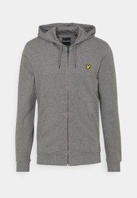 ZIP THROUGH HOODIE - Zip-up sweatshirt - mid grey marl