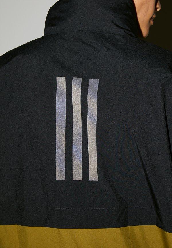 adidas Performance URBAN RAIN.RDY - Kurtka przeciwdeszczowa - black/wild moss/czarny Odzież Męska DSNH