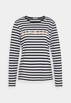 LOGO MARI  - Long sleeved top - black/white