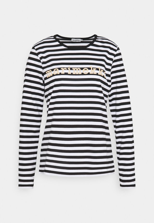 LOGO MARI  - Long sleeved top - black/white