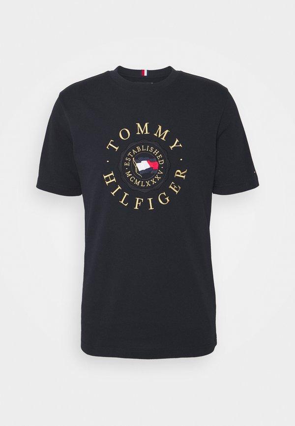 Tommy Hilfiger ICON COIN TEE - T-shirt z nadrukiem - desert sky/granatowy Odzież Męska EWPX