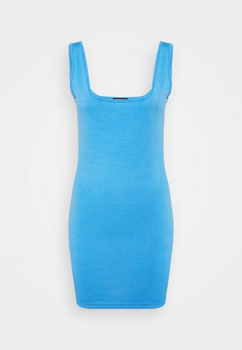 South Beach Petite - SUSTAINABLE SQUARE NECK MINI DRESS - Jersey dress - dark pastel light blue