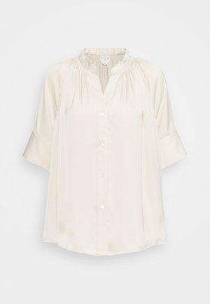 BLOUSE - Button-down blouse - beige dusty light