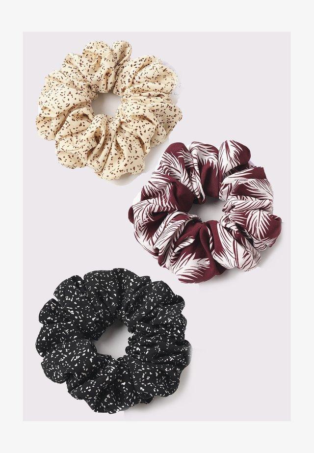 3 PACK - Accessoires cheveux - cream/burgundy/black