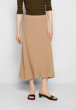 LAURA  MIDI SKIRT - Pouzdrová sukně - beige