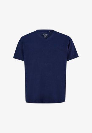 MIT V-AUSSCHNITT - Basic T-shirt - blue