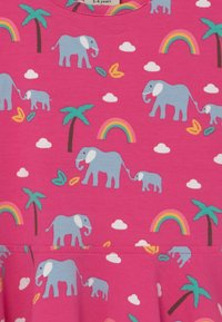 Frugi - SPRING SKATER RAINBOW ELEPHANTS - Jersey dress - deep pink - 2