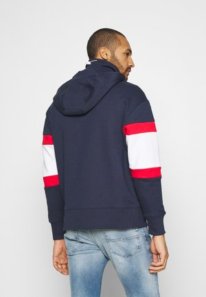 LINEAR BLOCK HOODIE UNISEX - Huppari - twilight navy