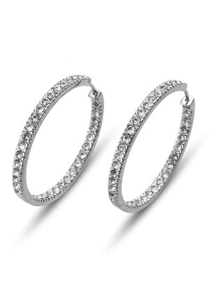CREOLE  - Earrings - weiss
