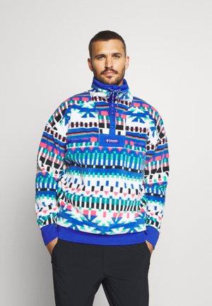 POWDER - Fleece jumper - white/lapis blue