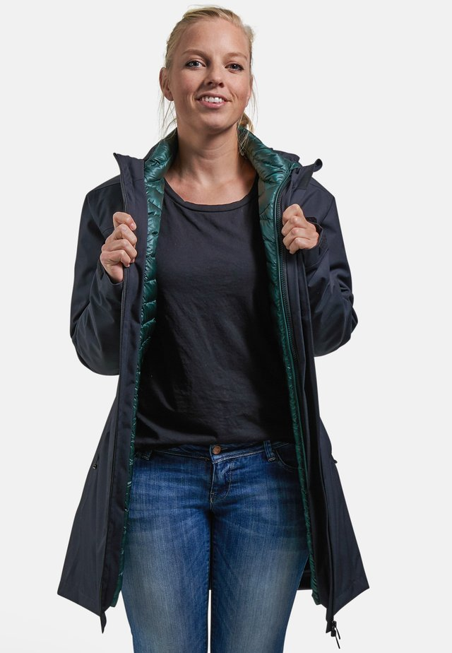 LIZ - Down coat - black/scarab